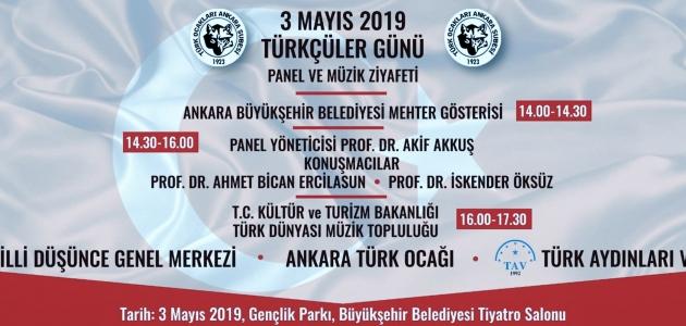 3 Mayıs Türkçüler Günü Programı