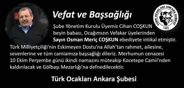 Vefat: Osman Meriç COŞKUN